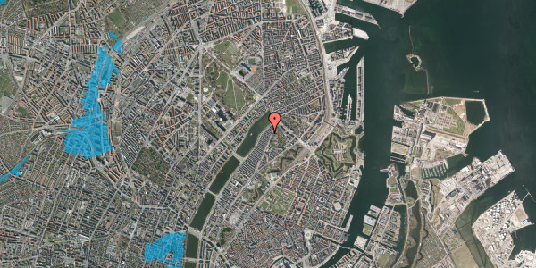 Oversvømmelsesrisiko fra vandløb på Zinnsgade 4, kl. th, 2100 København Ø