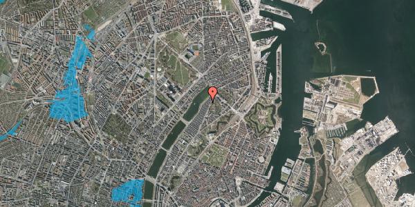 Oversvømmelsesrisiko fra vandløb på Zinnsgade 4, 2. tv, 2100 København Ø
