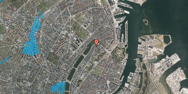 Oversvømmelsesrisiko fra vandløb på Zinnsgade 6, kl. th, 2100 København Ø