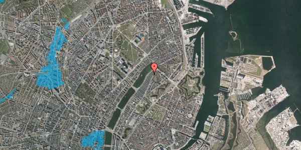 Oversvømmelsesrisiko fra vandløb på Zinnsgade 6, 2. th, 2100 København Ø