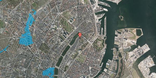 Oversvømmelsesrisiko fra vandløb på Zinnsgade 7, 2. tv, 2100 København Ø