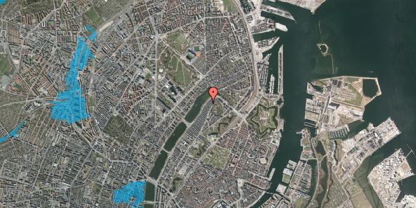 Oversvømmelsesrisiko fra vandløb på Zinnsgade 8, 2. th, 2100 København Ø