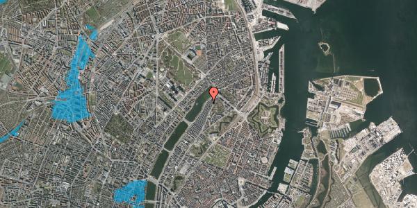 Oversvømmelsesrisiko fra vandløb på Zinnsgade 9, 3. th, 2100 København Ø
