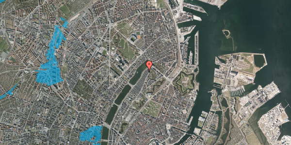 Oversvømmelsesrisiko fra vandløb på Zinnsgade 9, 5. tv, 2100 København Ø