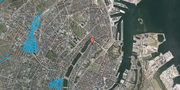 Oversvømmelsesrisiko fra vandløb på Zinnsgade 11, 2. tv, 2100 København Ø