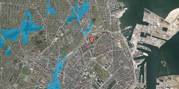 Oversvømmelsesrisiko fra vandløb på Æbeløgade 24, 1. th, 2100 København Ø