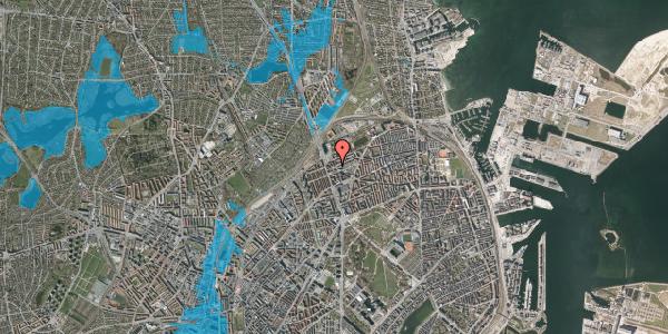 Oversvømmelsesrisiko fra vandløb på Æbeløgade 24, 2. th, 2100 København Ø