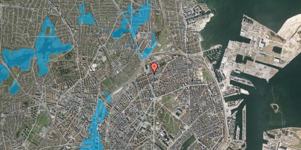 Oversvømmelsesrisiko fra vandløb på Æbeløgade 26, 4. th, 2100 København Ø