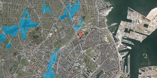 Oversvømmelsesrisiko fra vandløb på Æbeløgade 29, 1. th, 2100 København Ø