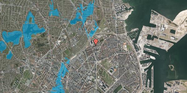 Oversvømmelsesrisiko fra vandløb på Æbeløgade 34, 3. th, 2100 København Ø