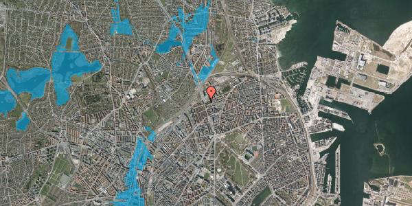 Oversvømmelsesrisiko fra vandløb på Æbeløgade 42, 2. th, 2100 København Ø