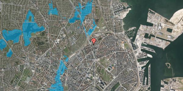 Oversvømmelsesrisiko fra vandløb på Æbeløgade 46, 3. 2, 2100 København Ø