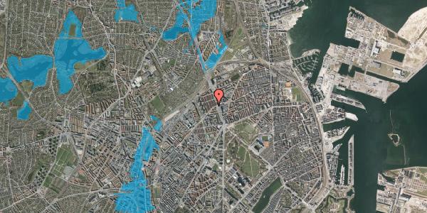Oversvømmelsesrisiko fra vandløb på H.P. Ørums Gade 1, 1. , 2100 København Ø
