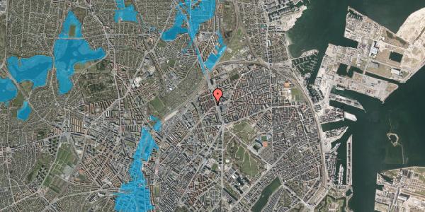 Oversvømmelsesrisiko fra vandløb på H.P. Ørums Gade 3, 2. , 2100 København Ø