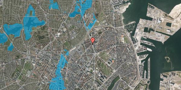 Oversvømmelsesrisiko fra vandløb på H.P. Ørums Gade 5, 1. , 2100 København Ø