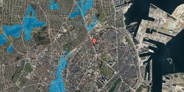 Oversvømmelsesrisiko fra vandløb på H.P. Ørums Gade 6, st. , 2100 København Ø
