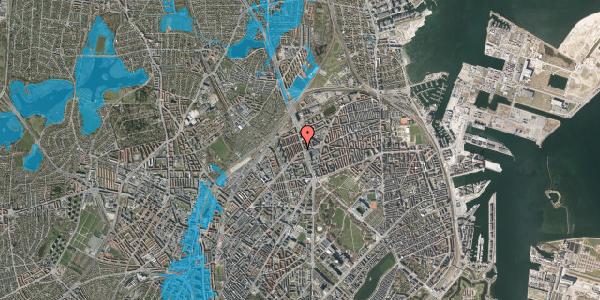 Oversvømmelsesrisiko fra vandløb på H.P. Ørums Gade 6, 2. , 2100 København Ø