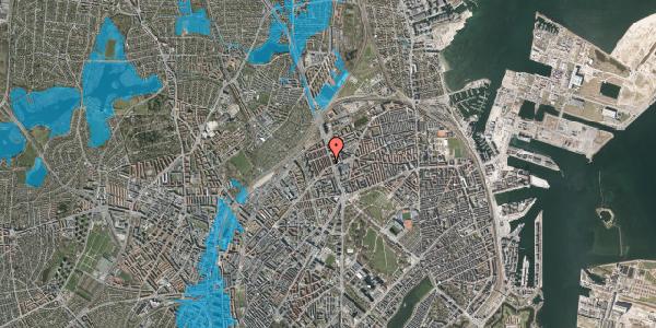 Oversvømmelsesrisiko fra vandløb på H.P. Ørums Gade 8, 3. , 2100 København Ø