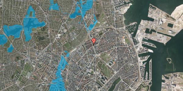 Oversvømmelsesrisiko fra vandløb på H.P. Ørums Gade 14, 2100 København Ø