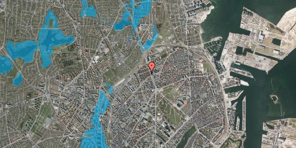 Oversvømmelsesrisiko fra vandløb på H.P. Ørums Gade 19, 2. , 2100 København Ø