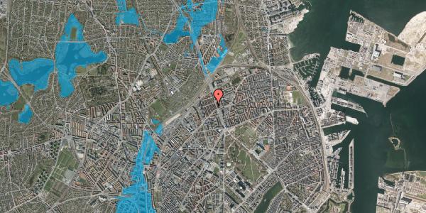 Oversvømmelsesrisiko fra vandløb på H.P. Ørums Gade 21, 2. , 2100 København Ø