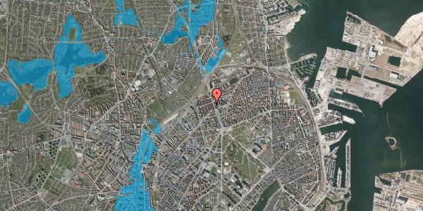 Oversvømmelsesrisiko fra vandløb på H.P. Ørums Gade 24, st. , 2100 København Ø