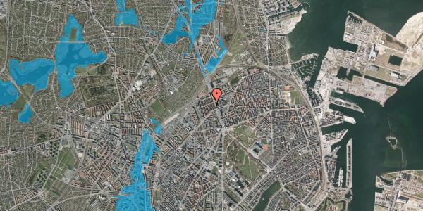 Oversvømmelsesrisiko fra vandløb på H.P. Ørums Gade 25, 2. , 2100 København Ø