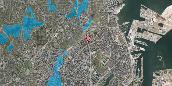 Oversvømmelsesrisiko fra vandløb på H.P. Ørums Gade 27, st. , 2100 København Ø