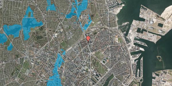 Oversvømmelsesrisiko fra vandløb på H.P. Ørums Gade 28, 1. , 2100 København Ø