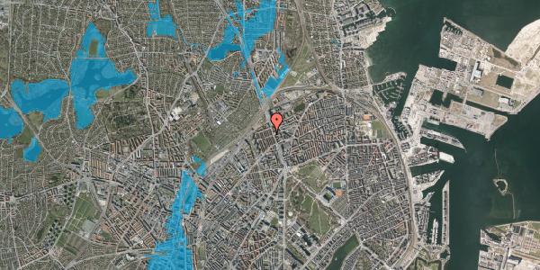 Oversvømmelsesrisiko fra vandløb på H.P. Ørums Gade 30, kl. 2, 2100 København Ø