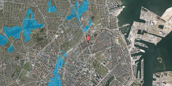 Oversvømmelsesrisiko fra vandløb på H.P. Ørums Gade 38, 2100 København Ø