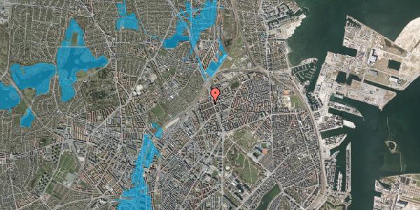 Oversvømmelsesrisiko fra vandløb på H.P. Ørums Gade 41, st. , 2100 København Ø