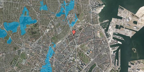 Oversvømmelsesrisiko fra vandløb på H.P. Ørums Gade 43, st. , 2100 København Ø
