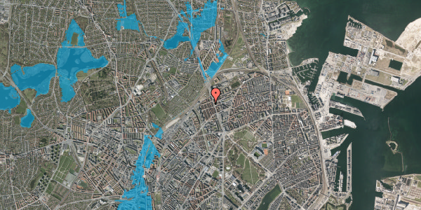 Oversvømmelsesrisiko fra vandløb på H.P. Ørums Gade 43, 2. , 2100 København Ø