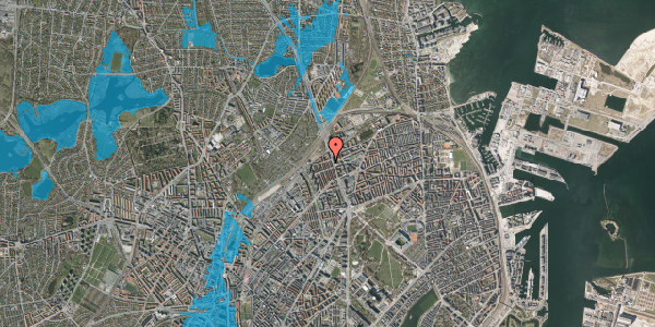 Oversvømmelsesrisiko fra vandløb på H.P. Ørums Gade 47, 1. , 2100 København Ø
