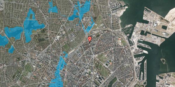 Oversvømmelsesrisiko fra vandløb på H.P. Ørums Gade 49, 2100 København Ø