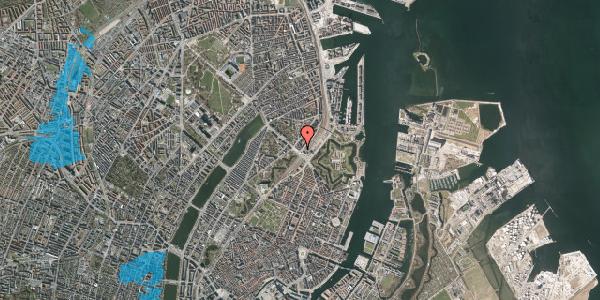 Oversvømmelsesrisiko fra vandløb på Østbanegade 1, kl. 2, 2100 København Ø