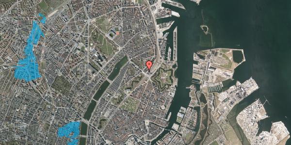 Oversvømmelsesrisiko fra vandløb på Østbanegade 1, 4. 1, 2100 København Ø
