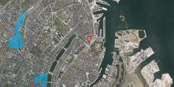 Oversvømmelsesrisiko fra vandløb på Østbanegade 3, st. tv, 2100 København Ø