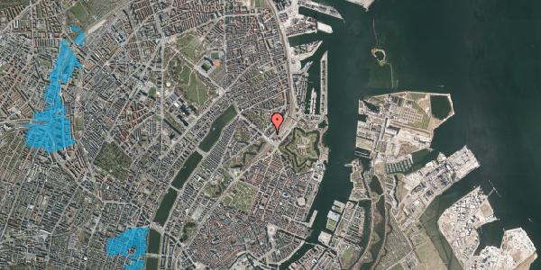 Oversvømmelsesrisiko fra vandløb på Østbanegade 3, 3. tv, 2100 København Ø