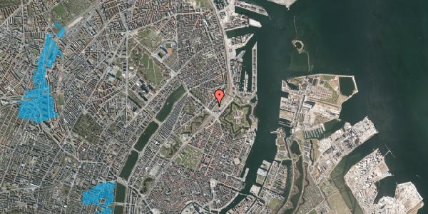 Oversvømmelsesrisiko fra vandløb på Østbanegade 5, 1. th, 2100 København Ø