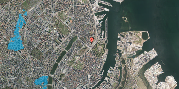 Oversvømmelsesrisiko fra vandløb på Østbanegade 5, 4. th, 2100 København Ø