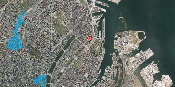 Oversvømmelsesrisiko fra vandløb på Østbanegade 7, st. tv, 2100 København Ø