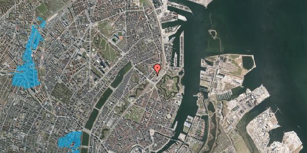 Oversvømmelsesrisiko fra vandløb på Østbanegade 7, 2. th, 2100 København Ø