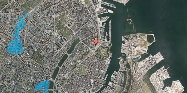 Oversvømmelsesrisiko fra vandløb på Østbanegade 9, 1. th, 2100 København Ø