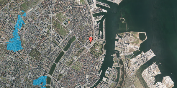 Oversvømmelsesrisiko fra vandløb på Østbanegade 9, 2. tv, 2100 København Ø