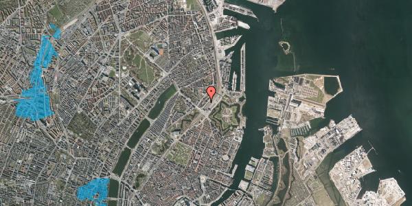 Oversvømmelsesrisiko fra vandløb på Østbanegade 9, 4. , 2100 København Ø