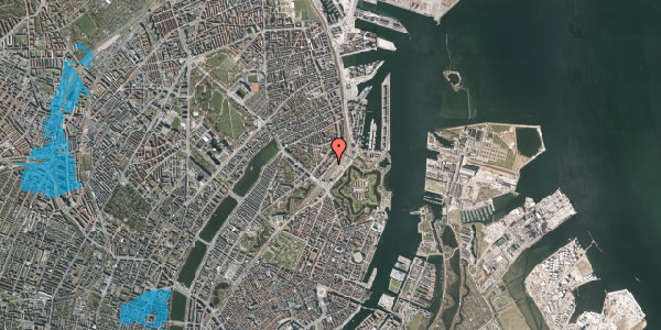 Oversvømmelsesrisiko fra vandløb på Østbanegade 11, kl. 4, 2100 København Ø