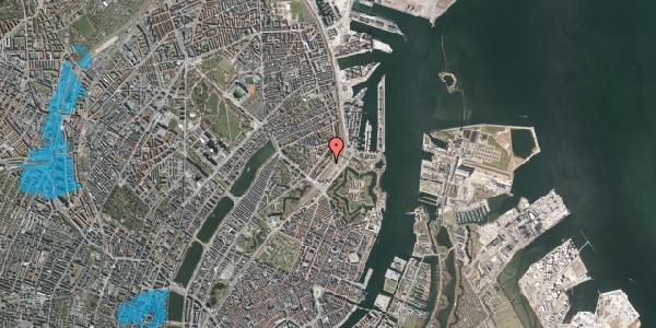 Oversvømmelsesrisiko fra vandløb på Østbanegade 13, st. tv, 2100 København Ø