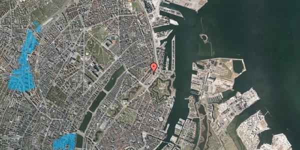 Oversvømmelsesrisiko fra vandløb på Østbanegade 15, 2. th, 2100 København Ø